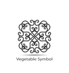 Vegetable or geometrical symbol vector