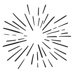 Vintage hand drawn design element fireworks black vector