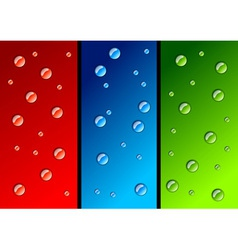 water drops color variations vector image