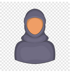 woman arab icon cartoon style vector image