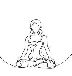 Yoga Poses Line Drawing Vector Images Over 450