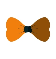 Yellow bowtie man father day party shadow vector