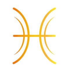 zodiac sign pisces astrology calendar mystic vector image