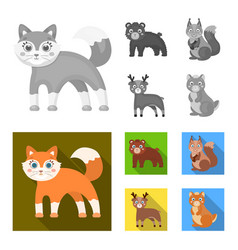 Zoo nature reserve and other web icon in vector
