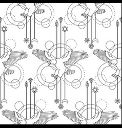 bald eagle seamless pattern vector image vector image