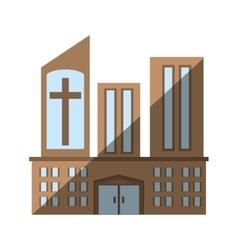 Building church religious sacred icon vector