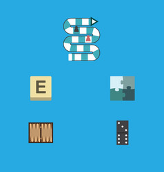 flat icon play set of bones game jigsaw vector image
