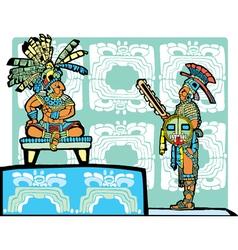 Mayan King and Warrior vector image
