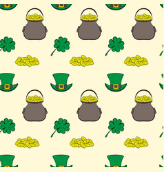 Seamless pattern st patrick s day vector