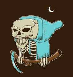 skeleton death vector image vector image