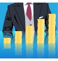 Stacking profits business concept vector