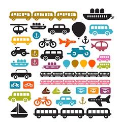Transportation Icons Isolated on White Background vector image
