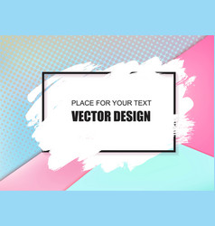 universal banner frame and place for text vector image vector image