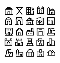 Buildings and Furniture Icons 4 vector image vector image