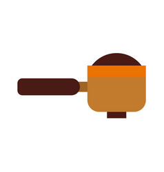 coffee pot isolated icon vector image