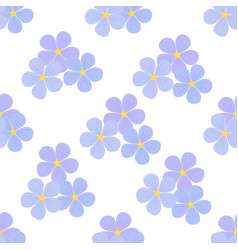 flax flowers seamless pattern cosmetics medical vector image