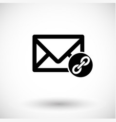 mail connection flat icon vector image