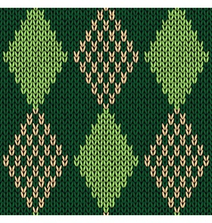 Style Seamless Green Color Knitted Pattern vector image vector image