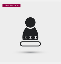 winter hat icon simple winter sign vector image vector image