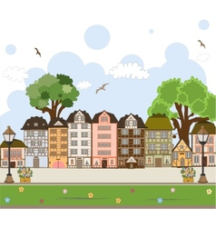 European City Center Collection vector image vector image