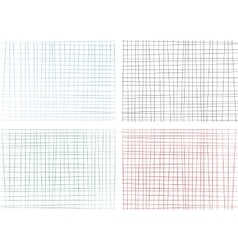 Hand drawn lines background set vector image