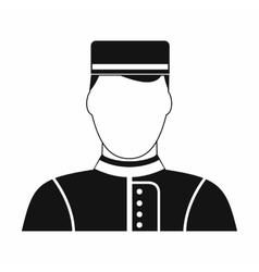 Hotel bellman black simple icon vector image