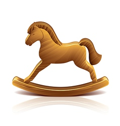 object wooden rocking horse vector image