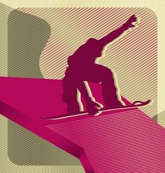 snowboarding sport vector image vector image