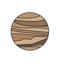 venus planet solar system galaxy vector image vector image