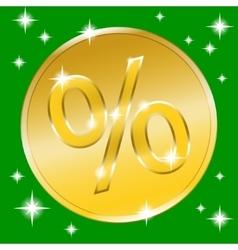 coin gold button vector image