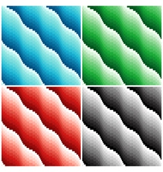Four colored wavy seamless patterns vector image vector image