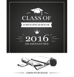 Graduation party invitation card vector image