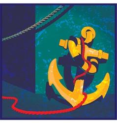 nautical theme vintage vector image vector image