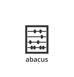 abacus icon design template isolated vector image