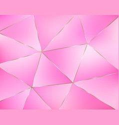 abstract pink geometric background from triangles vector image