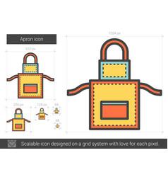 apron line icon vector image