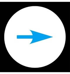Arrow Axis X flat blue and white colors round vector