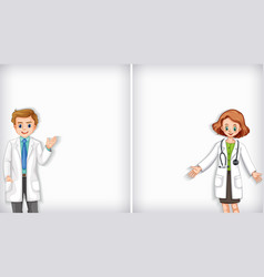 Background template design with male and female vector