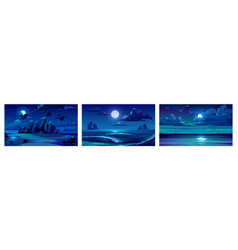 backgrounds with night sea landscape vector image