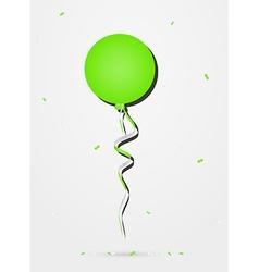 Balloon with confetti vector