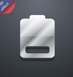 Battery low level Electricity icon symbol 3D style vector