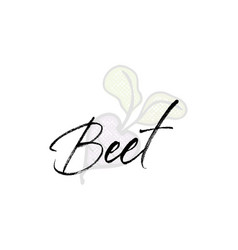 beet word on background fruit web vector image