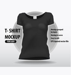 Black clean women t-shirt editable layout in high vector