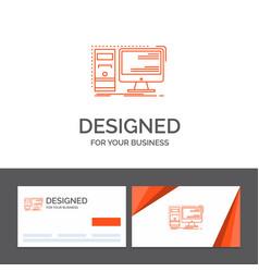 business logo template for computer desktop vector image