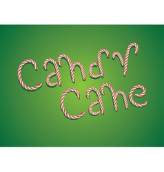 Candy Cane Words2 vector