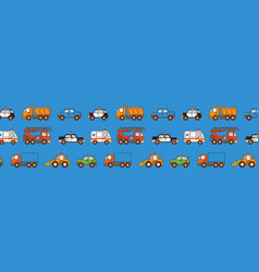 cars pattern on blue background cover for pages vector image