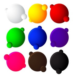 colorful bubble balls web button on white backgrou vector image