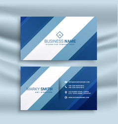 Corporate business card identity design with blue vector