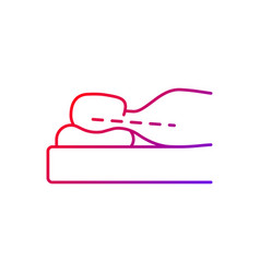 Correct sleeping position for reducing neck pain vector