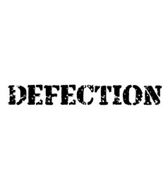 Defection stamp on white background vector